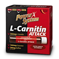 Карнитин  Power System 3600 L-Carnitin Attack  20х25 мл.